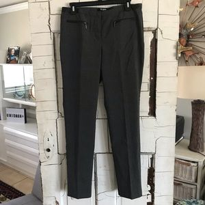 89th & Madison work pants faux leather trim 10